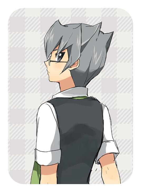 Tags: Anime, Pixiv Id 437499, Yu-Gi-Oh!, Yu-Gi-Oh! ZEXAL, Durbe, Green Neckwear, Gray Outerwear, Pixiv, Fanart From Pixiv, Fanart, PNG Conversion, Dumon