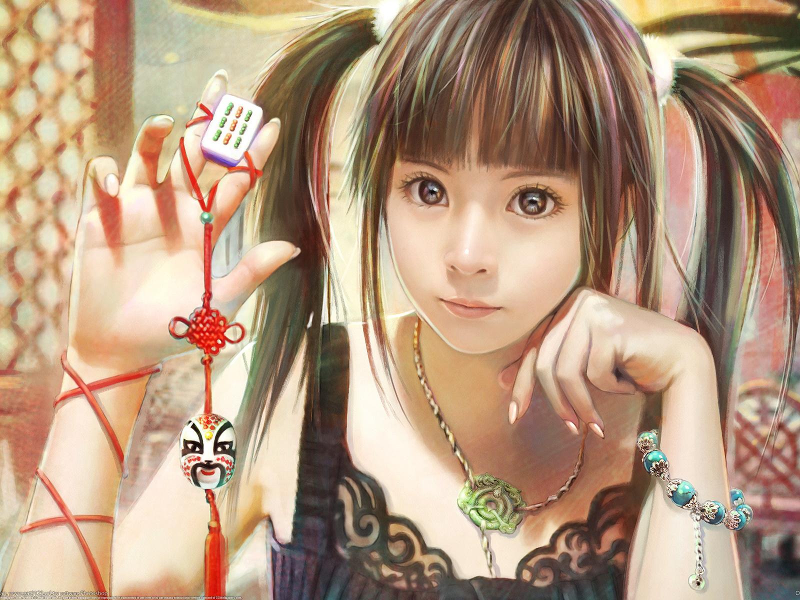 Anime 3d girl