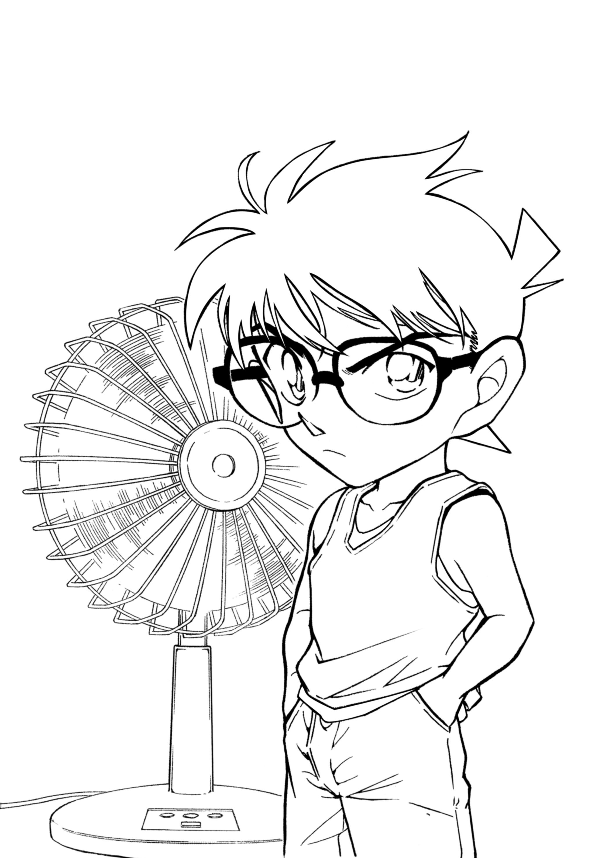 プリント 塗り絵無料プリント : Detective Conan Coloring Pages