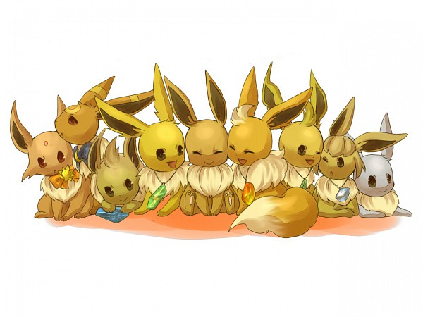 Tags: Anime, Amarisu, Pokémon, Eevee, Alternate Color, 1280x960 Wallpaper