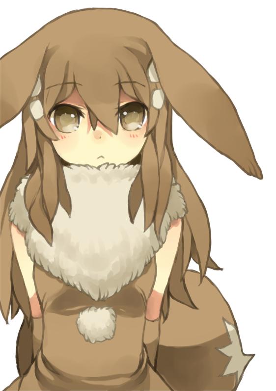 Tags: Anime, Puddingpudding, Pokémon, Eevee, Brown Dress, Pixiv, Fanart From Pixiv, PNG Conversion, Fanart, Mobile Wallpaper