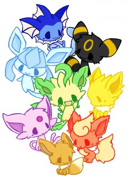 Tags: Anime, Pixiv Id 1171059, Pokémon, Espeon, Eevee, Vaporeon, Glaceon