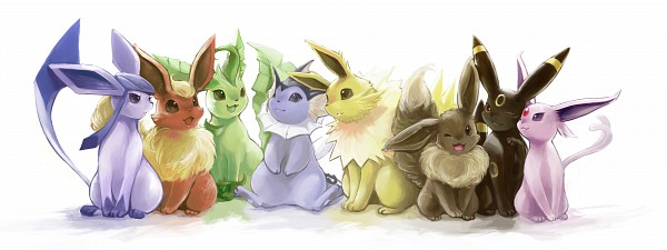 Tags: Anime, Nejita, GAME FREAK, Pokémon, Leafeon, Flareon, Umbreon