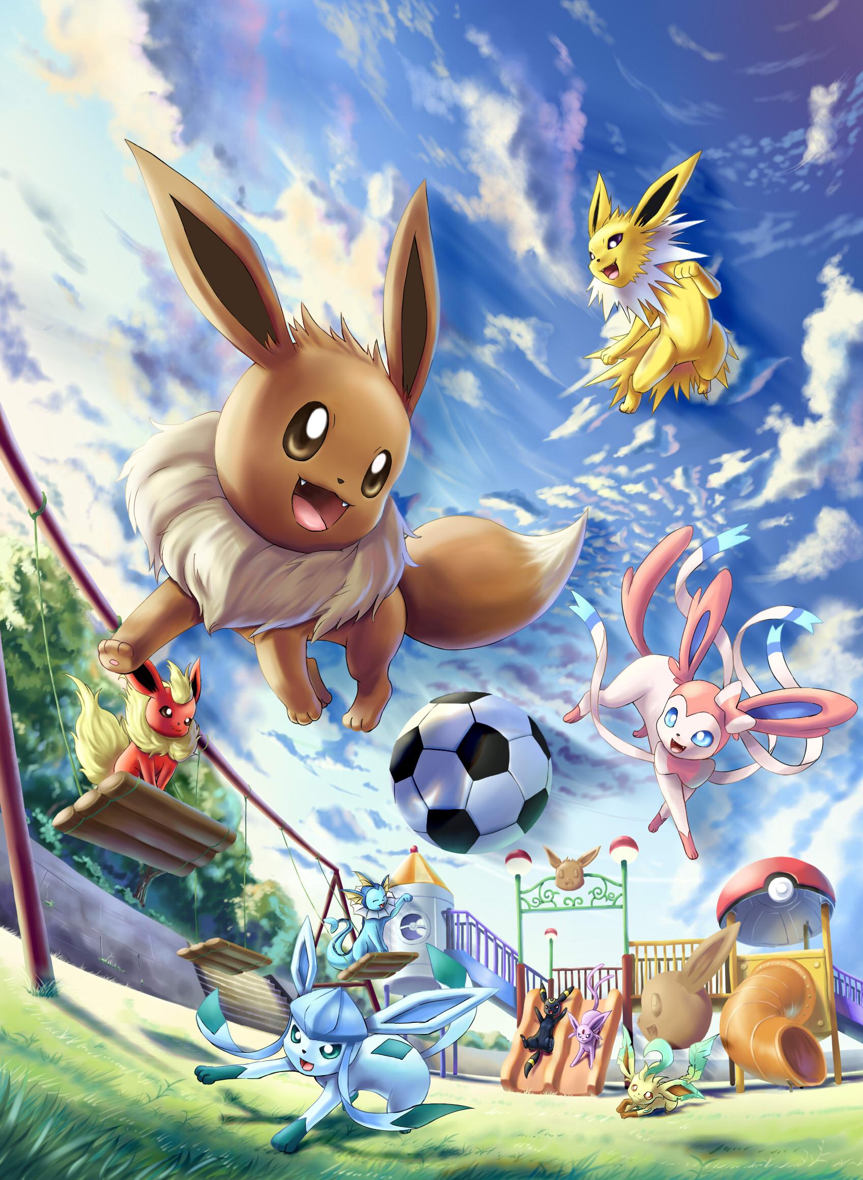 Eeveelution Pok 233 Mon Image 1569186 Zerochan Anime