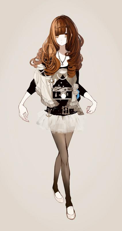 Tags: Anime, Eiri, Crossed Legs (Standing), Shawl, Pixiv, Original
