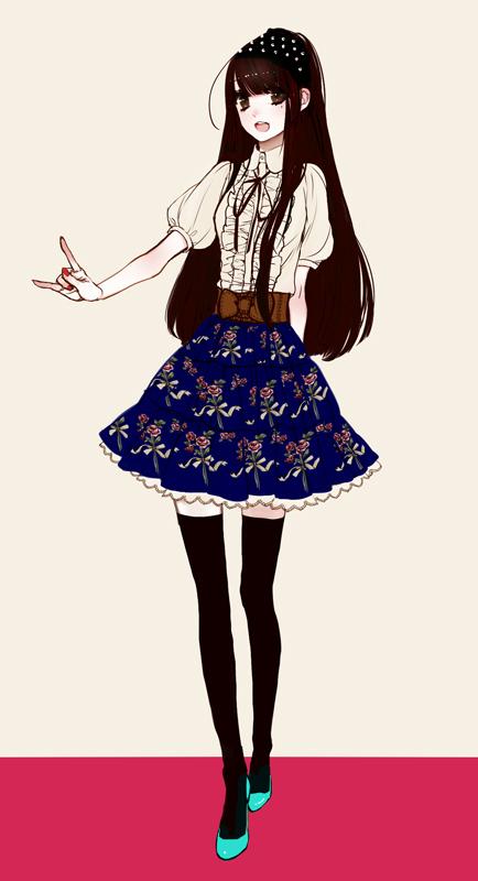 Tags: Anime, Eiri, I Love You Gesture, Pixiv, Original, Mobile Wallpaper