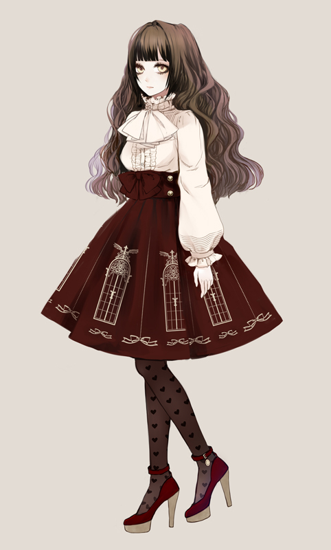 Anime girl in a dress with brown hair