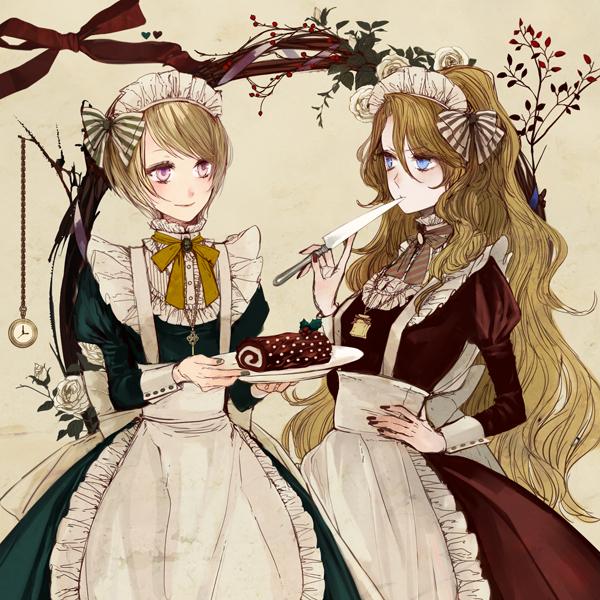 Tags: Anime, Eiri, Christmas, Silverware, Cake, Watch, Clock