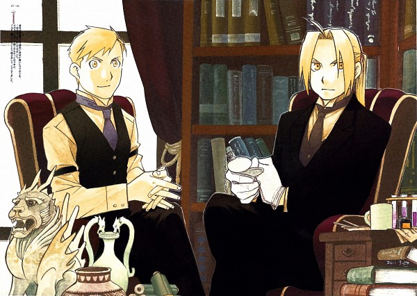 Tags: Anime, Arakawa Hiromu, Fullmetal Alchemist, Alphonse Elric, Edward Elric, Watch, Vase