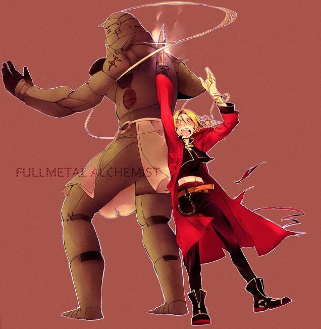 Tags: Anime, Mochanatural, Fullmetal Alchemist, Alphonse Elric, Edward Elric, Pixiv, Elric Brothers