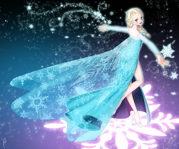 Tags: Anime, Blue Dress, Disney, Briska, Frozen (Disney), Elsa the Snow Queen