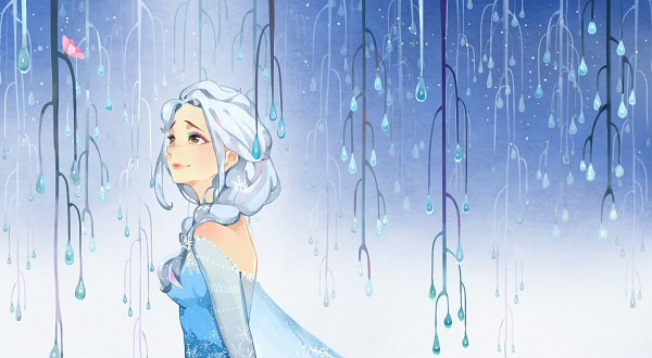 Tags: Anime, Lipstick, Elderly, Blue Dress, Disney, Pink Lips, Frozen (Disney)