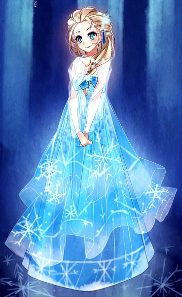 Tags: Anime, Blue Dress, Disney, Blue Bow, Frozen (Disney), Elsa the Snow Queen, Pixiv Id 4212552