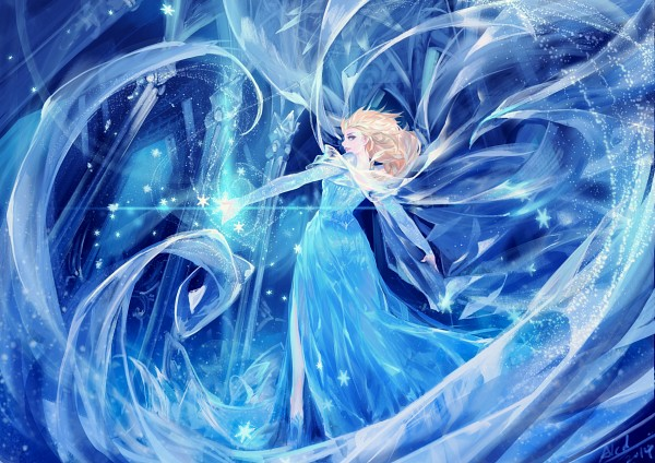Tags: Anime, Snowflakes, Magic, Disney, Alcd, Frozen (Disney), Elsa the Snow Queen