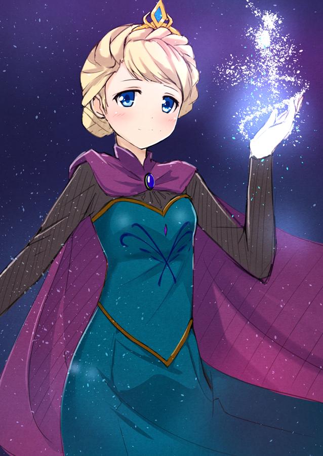 Tags: Anime, Ok-ray, Frozen (Disney), Elsa the Snow Queen, Disney, Mobile Wallpaper, Pixiv, Fanart, Fanart From Pixiv
