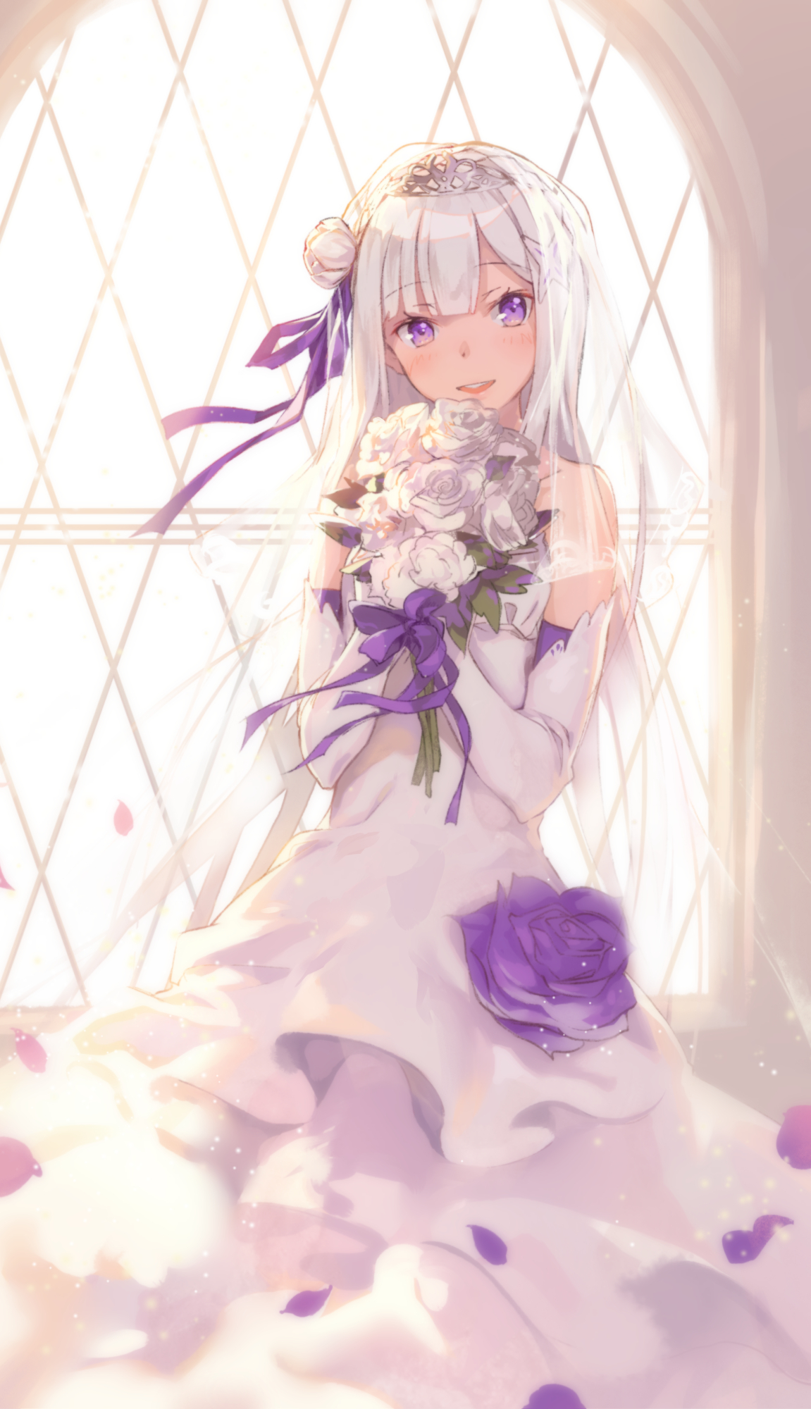 Emilia Re Zero Mobile Wallpaper Zerochan Anime Image Board