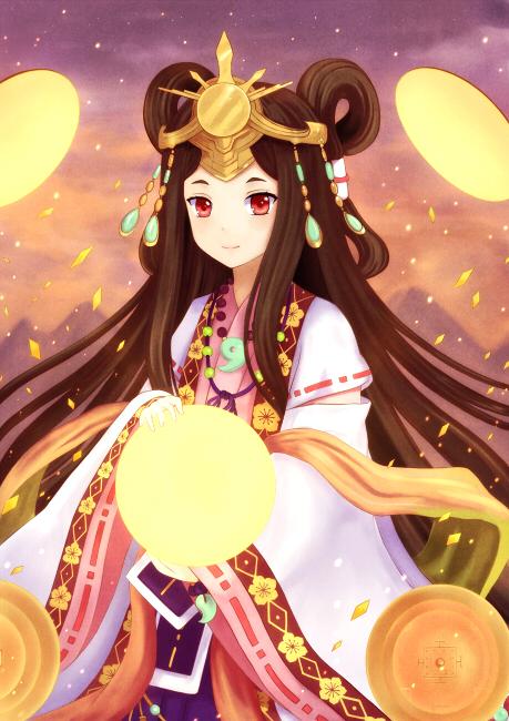 Tags: Anime, langod, Z/X - Zillions of Enemy X, Empress of the Land of the Rising Sun Himiko, Magatama, Fanart From DeviantART, deviantART, Fanart