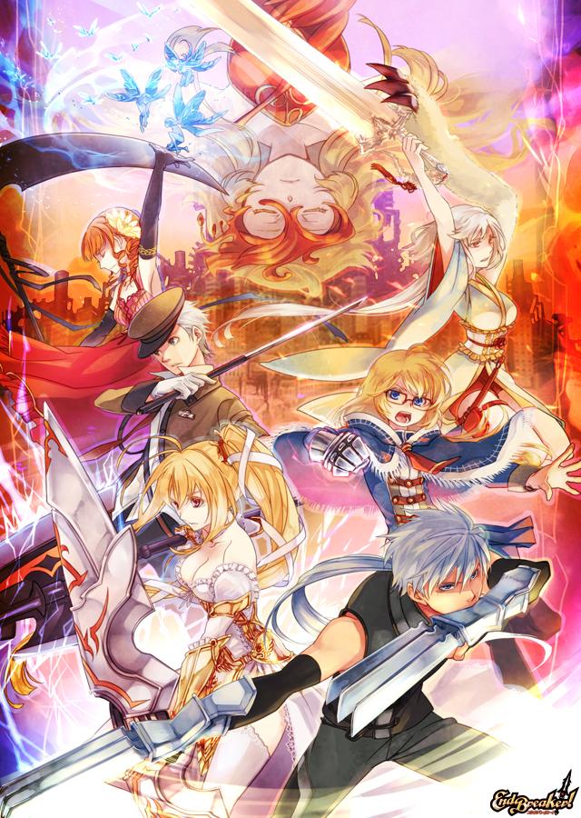 Tags: Anime, You Kaiki, BROCCOLI, End Breaker!, Rupee Gold, Revolution Saint Zephyr, Renshia Rifendia, Saion Furakutoru, Irina Callas, Teti Galatia, Kido Rai