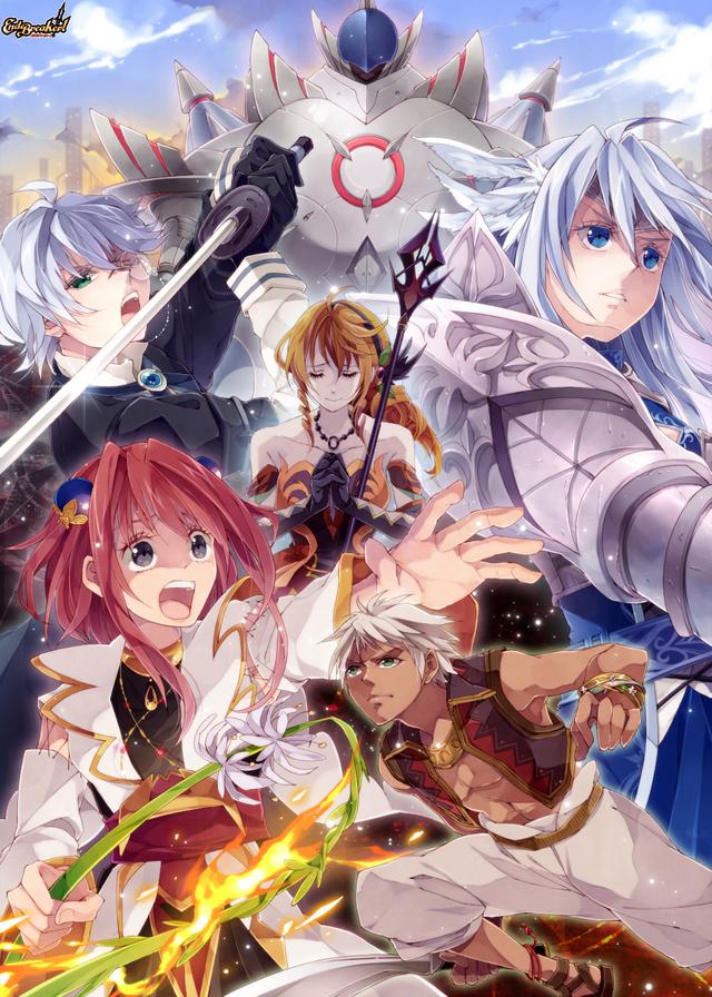 Tags: Anime, BROCCOLI, End Breaker!, Fumaric Erudi, Miriam Sargent, Kiryi Agato, Irina Callas, Cyan Magnolia