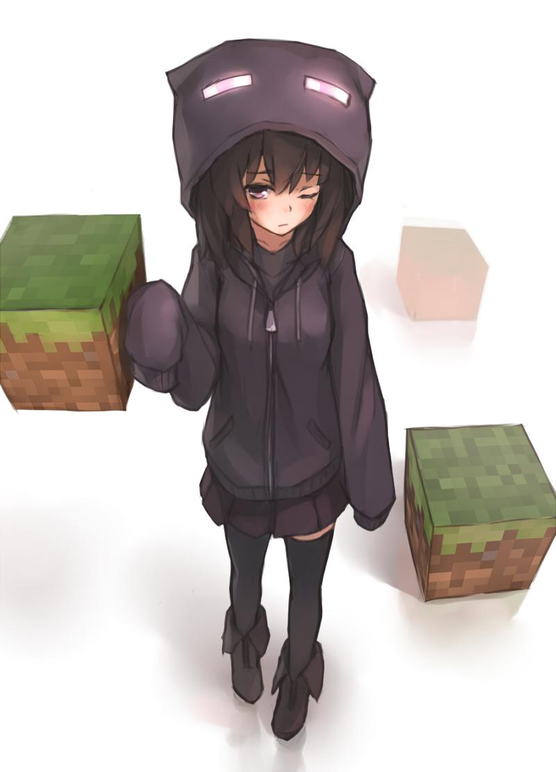 Enderman Minecraft Mobile Wallpaper 1221671 Zerochan Anime Image Board