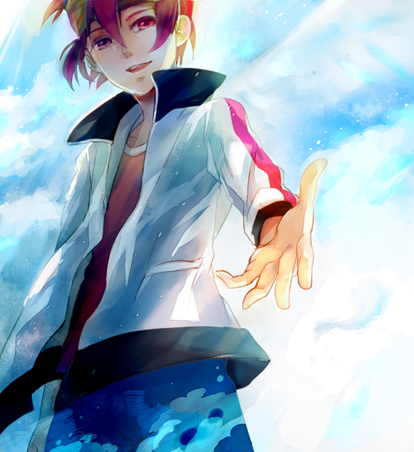 Tags: Anime, Haiko (Pixiv2170013), Inazuma Eleven, Inazuma Eleven GO, Endou Mamoru, Pixiv, Mark Evans