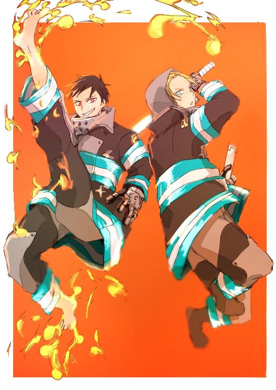 Tags: Anime, Pixiv Id 10010180, Enen no Shouboutai, Arthur Boyle, Kusakabe Shinra, Fire Force