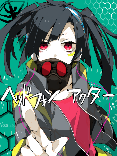 Tags: Anime, Daburyuu, Kagerou Project, Enomoto Takane, Red Shirt, Covered Mouth, Open Jacket