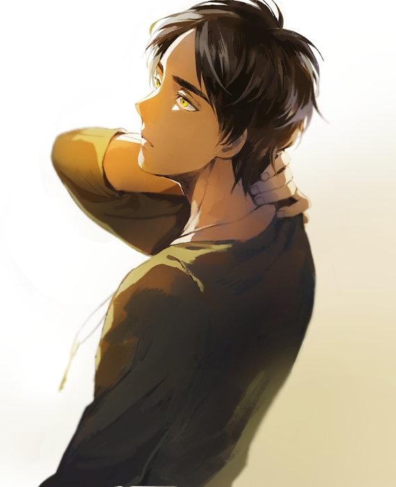 Tags: Anime, Chacall, Attack on Titan, Eren Jaeger, Fanart, Fanart From Pixiv, PNG Conversion, Pixiv