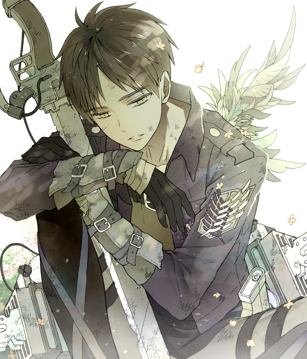 Tags: Anime, Shukichi, Attack on Titan, Eren Jaeger, Emblem, Pixiv, Revision, Fanart, Fanart From Pixiv, Eren Yeager