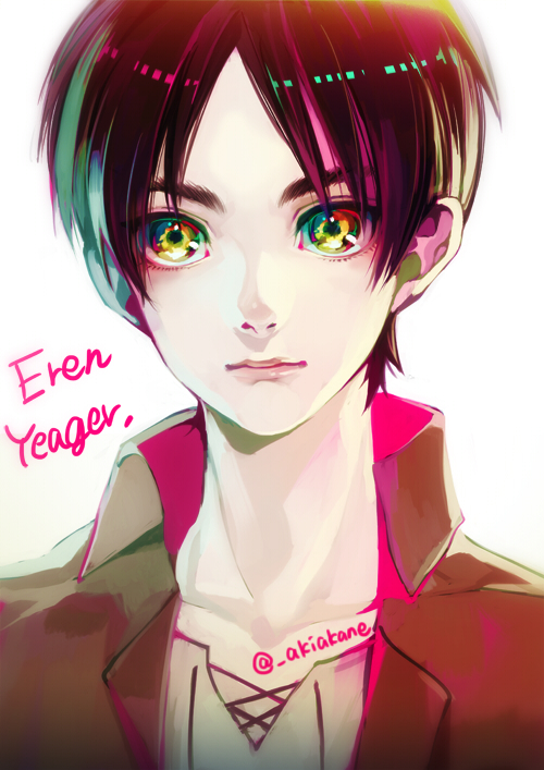 Tags: Anime, Akiakane, Attack on Titan, Eren Jaeger, Beautiful Eyes, PNG Conversion, Twitter, Fanart, Mobile Wallpaper, Requested Upload, Eren Yeager