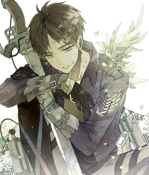 Tags: Anime, Shukichi, Attack on Titan, Eren Jaeger, Shotgun, Emblem, Fanart From Pixiv, Pixiv, Revision, Fanart