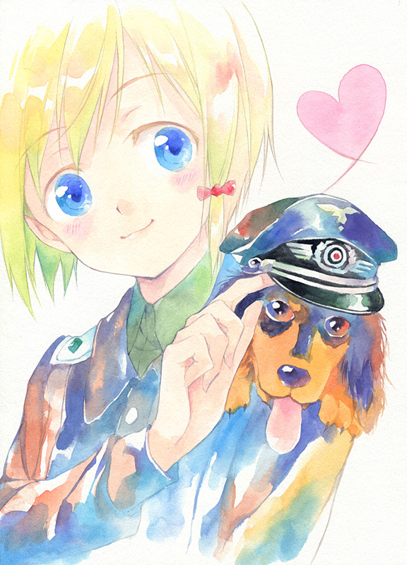 Tags: Anime, Agahari, Strike Witches, Erica Hartmann, Fanart, Traditional Media, Pixiv, Fanart From Pixiv