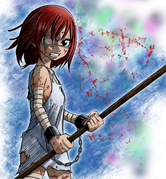 Tags: Anime, Mashima Hiro, FAIRY TAIL, Erza Scarlet, Colorization