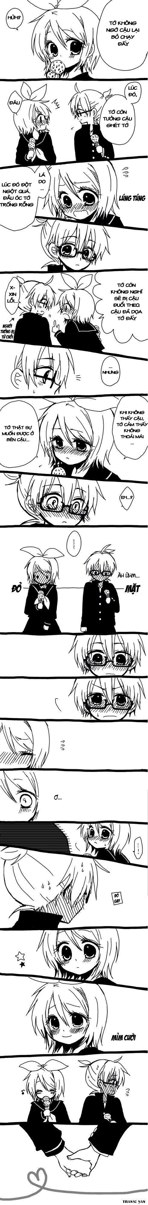 Tags: Anime, An (Pixiv1170947), VOCALOID, Kagamine Len, Kagamine Rin, Vietnamese Text, Escape Romantic