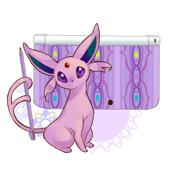 Tags: Anime, Rikovui, Pokémon, Espeon, Nintendo 3DS, Fanart, Fanart From Pixiv, Pixiv