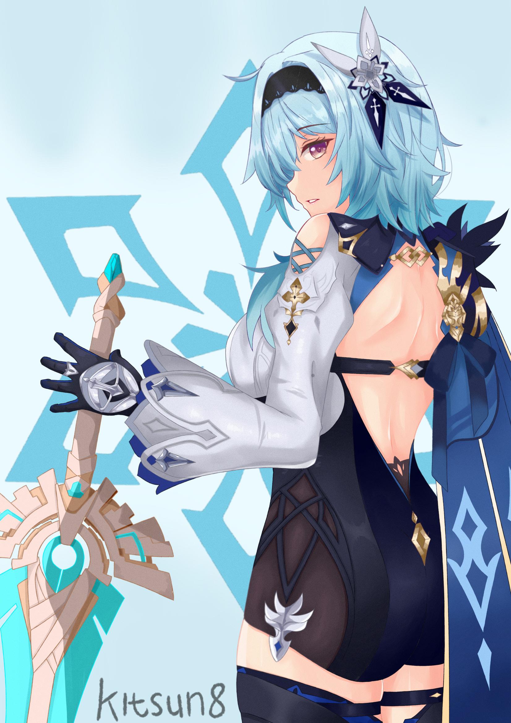 Eula Genshin Impact Image 3266506 Zerochan Anime Image Board