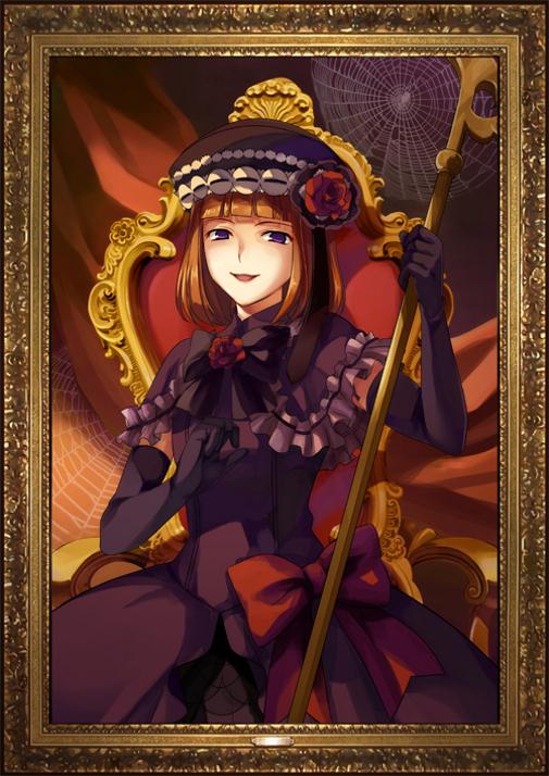 Tags: Anime, 07th Expansion, Umineko no Naku Koro ni, Eva-Beatrice, Ougon Musou Kyoku, Official Art, Mobile Wallpaper