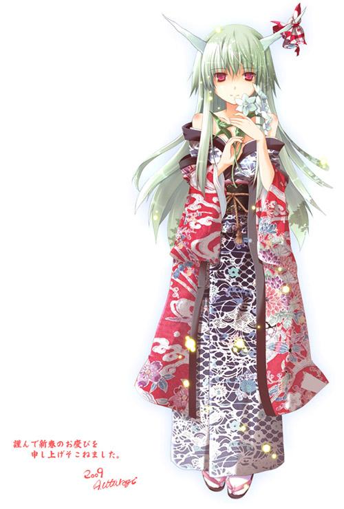 Tags: Anime, Utsurogi Angu, Touhou, Ex Keine, Kamishirasawa Keine, Horn Ornament, Fanart, Pixiv, Mobile Wallpaper, Fanart From Pixiv
