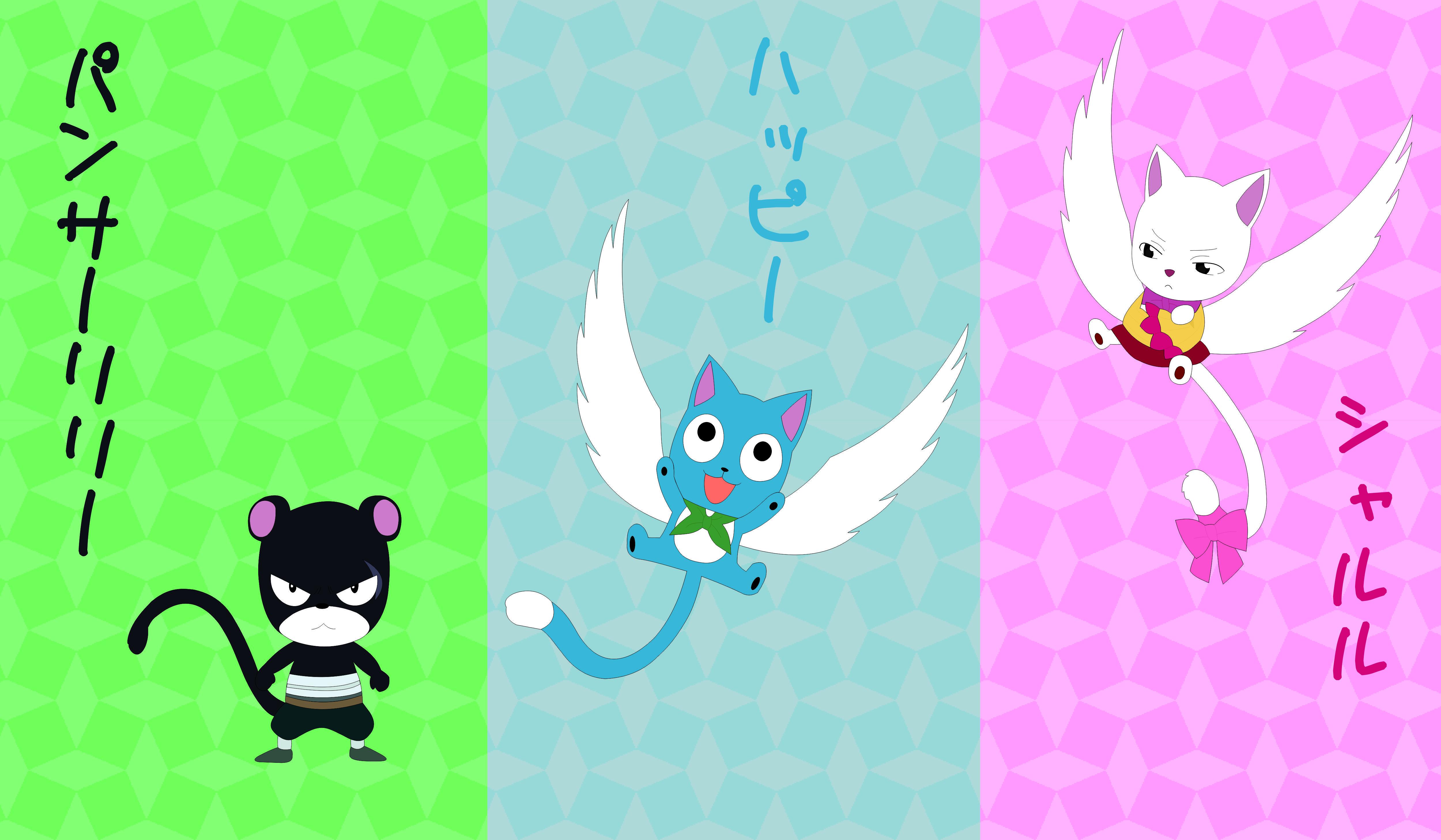 Exceed Fairy Tail Hd Wallpaper 1574819 Zerochan Anime Image Board