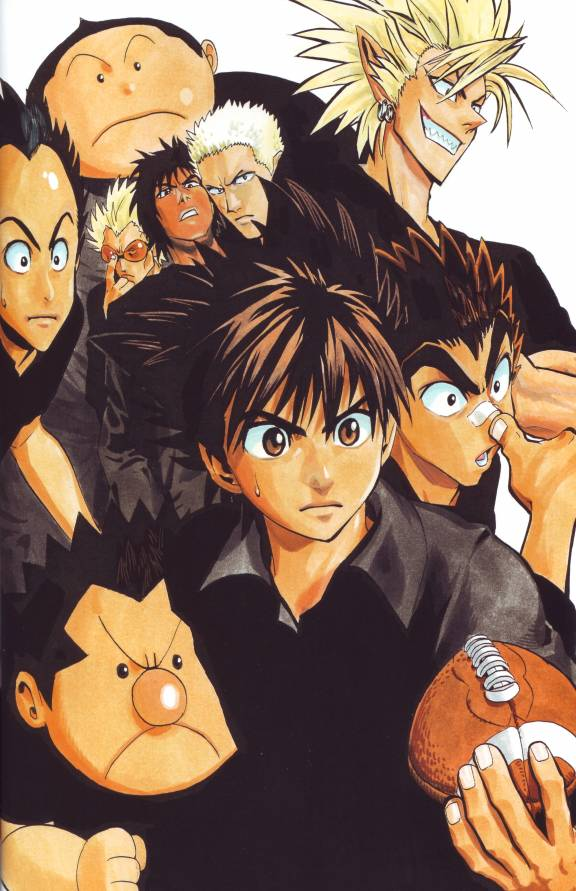 Tags: Anime, Eyeshield 21, Raimon Taro, Kobayakawa Sena, Hiruma Yoichi, Kazuki Jumonji, Koji Kuroki, Shozo Togano, Mobile Wallpaper