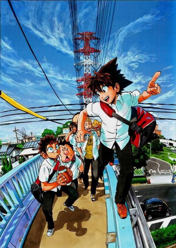 Tags: Anime, Eyeshield 21, Raimon Taro, Daikichi Komusubi, Kazuki Jumonji, Koji Kuroki, Shozo Togano, Kobayakawa Sena
