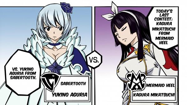 Tags: Anime, FAIRY TAIL, Aguria Yukino, Mikazuchi Kagura, Hime Cut, Mermaid Heel, Sabertooth