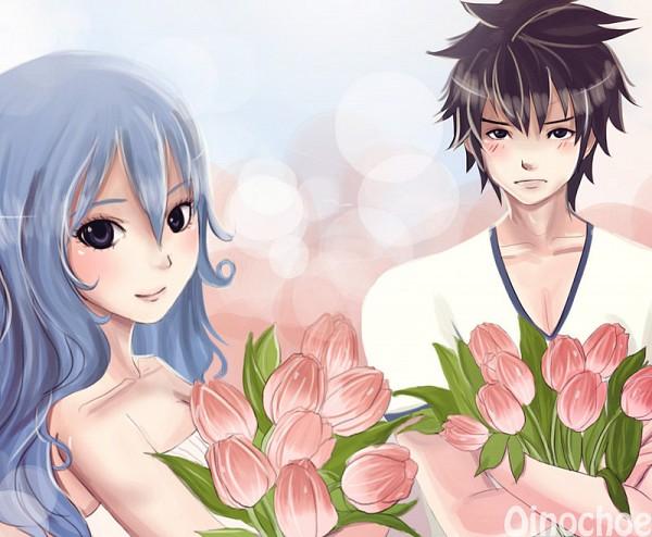 Tags: Anime, Oinochoe (Artist), FAIRY TAIL, Gray Fullbuster, Juvia Loxar, Tulip