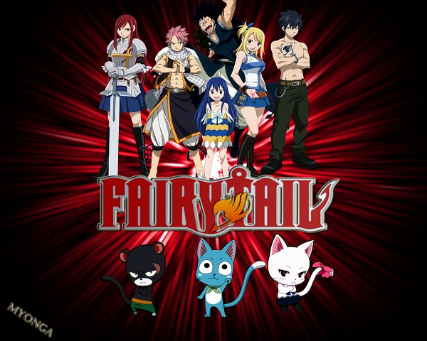 Tags: Anime, FAIRY TAIL, Wendy Marvell, Erza Scarlet, Pantherlily, Lucy Heartfilia, Gajeel Redfox