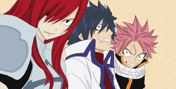 Tags: Anime, FAIRY TAIL, Natsu Dragneel, Gray Fullbuster, Erza Scarlet