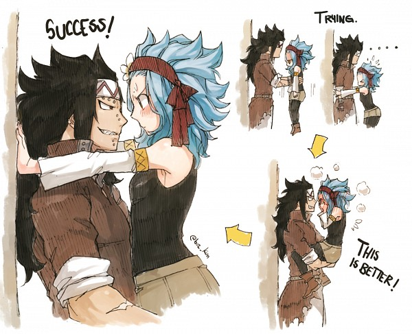 Tags: Anime, Rusky-boz, FAIRY TAIL, Levy McGarden, Gajeel Redfox, Text: Mangaka Name, Rolled Up Sleeves