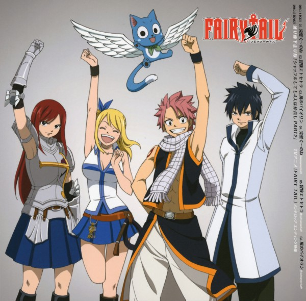 Tags: Anime, FAIRY TAIL, Gray Fullbuster, Natsu Dragneel, Happy (FAIRY TAIL), Erza Scarlet, Lucy Heartfilia