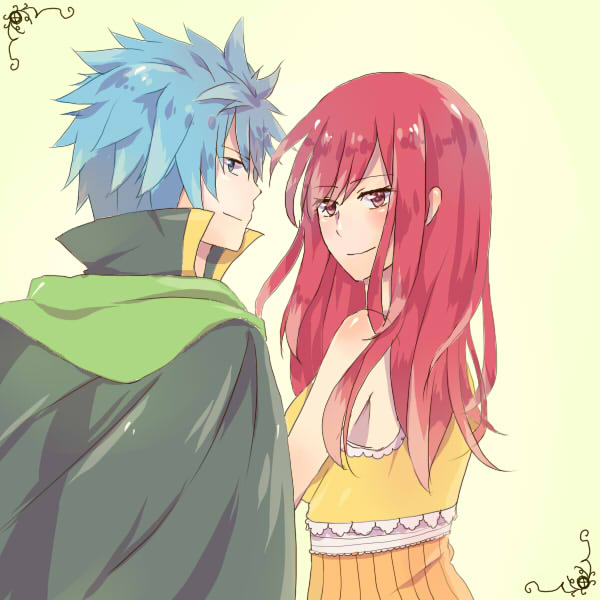Tags: Anime, Pixiv Id 1090448, FAIRY TAIL, Jellal Fernandes, Erza Scarlet