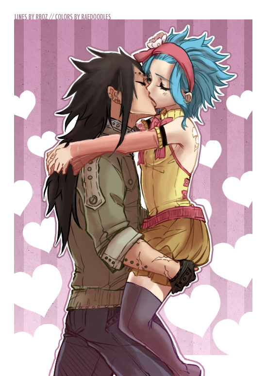 Fairy Tail Levy And Gajeel Kiss View Fullsize FAIRY TAIL Image