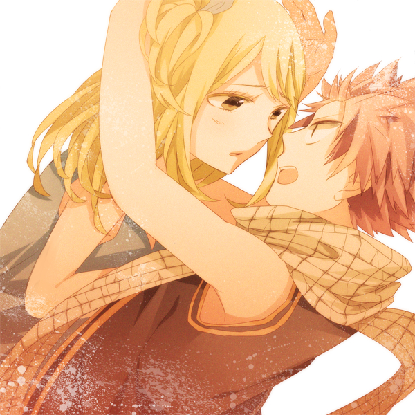 Tags: Anime, Miyake Achi, Pixiv Id 6163717, FAIRY TAIL, Natsu Dragneel, Lucy Heartfilia, Revision, Fanart From Pixiv, Pixiv, PNG Conversion, Fanart
